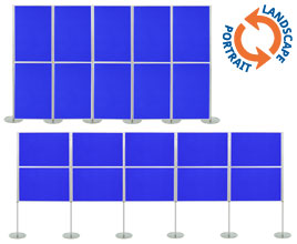 10 Panel Modular Display - 900 x 600mm Boards
