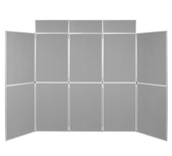 10 Panel Folding Display Boards - 1000 x 700mm