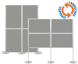 4 Panel Modular Display - 900 x 600mm Boards