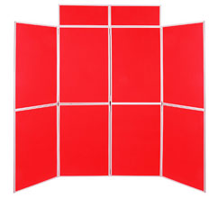 8 Panel Folding Display Boards - 900 x 600mm