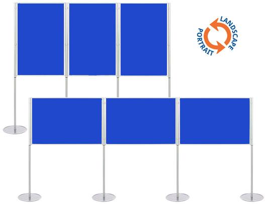 Exhibition Display Boards : Triple panel modular exhibition stands: a0 display boards