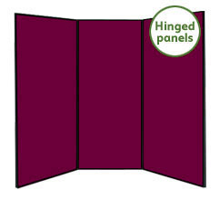 Jumbo 3 Panel Folding Display Boards
