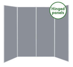 Jumbo 4 Panel Folding Display Boards