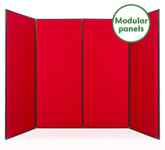 Large 4 Panel Modular Display Boards