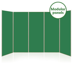 Large 5 Panel Modular Display Boards