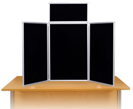 Maxi Desktop Display Boards Aluminium Frame