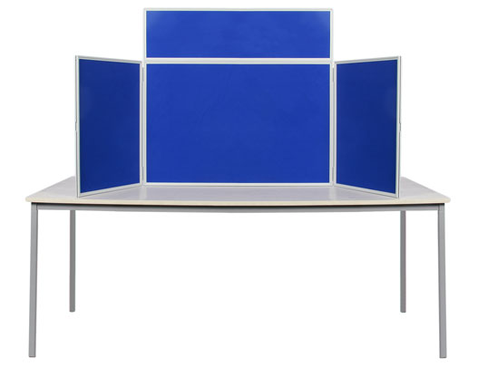 Mini Tabletop Display Boards: Folding Exhibition Stands With Plastic Frames