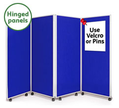 4 Panel Concertina Screen 1500mm (h)