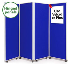 4 Panel Concertina Screen  1800mm (h)