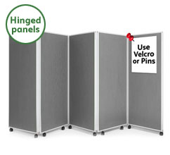 5 Panel Concertina Screen 1500mm (h)