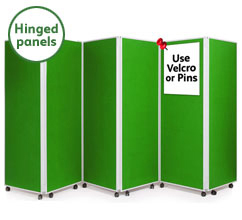 6 Panel Concertina Screen 1800mm (h)