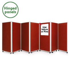 7 Panel Concertina Screen 1500mm (h)